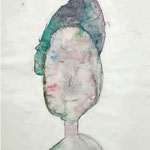 Miss Findushy, 2006, 30 x 21cm, Aquarell auf Packpapier