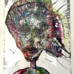 Wesensportrait, 2013, 30 x 21 cm, Lack und Aquarell auf Büttenpapier