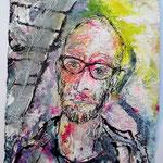 Frank, 2016, 37 x 28 cm, Aquarell und Lack auf Büttenpapier