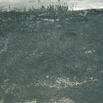 Landschaft am Wasser, 2006, 85 x 110 cm, Ölharz und Lack auf Leinwand