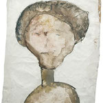 Mrs. Findushy, 2006, 30 x 21cm, Aquarell auf Packpapier