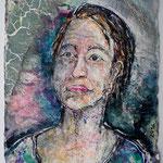 Barbara, 2016, 37 x 28 cm, Aquarell und Lack auf Büttenpapier