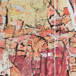 Die Natur der Natur, 2004, zweiteilig, 90 x 180 cm, Ölharz und Lack auf Leinwand