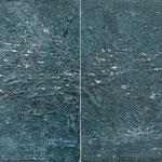 Bewegung im Raum, 2008, zweiteilig, 100 x 300 cm, Ölharz und Lack auf Leinwand