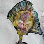 Wesensportrait, 2013, 32 x 25 cm, Lack und Aquarell auf Büttenpapier