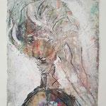 Rubinia, 2015, 37 x 28 cm, Lack und Aquarell auf Büttenpapier