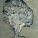 Miss Snowpepper, 2013, Oelharz und Lack auf Leinwand, 110 x 70 cm