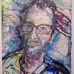 Mark Richter, 2016, 37 x 28 cm, Aquarell und Lack auf Büttenpapier