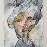 Paloma Picasso, 2015, 15 x 10 cm, Lack und Aquarell auf Büttenpapier