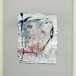 Portrait, 2004, 68 x 52 cm, Lack und Gouache auf Packpapier