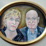 Die Goldene Hochzeit, 2017, 25 x 40 cm, Öl auf Leinwand