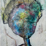 """Wesensportrait """"Nikea Bastla"""", 2013, 30 x 21 cm, Lack und Aquarell auf Büttenpapier"""