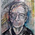 Klaus-Michael Heinze, 2017, 37 x 28 cm, Aquarell und Lack auf Büttenpapier