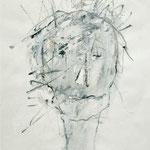 Portrait, 2006, 30 x 21 cm, Gouache auf Papier