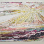 Ostseeseele II, 2015, 38 x 55 cm, Lack und Aquarell auf Büttenpapier