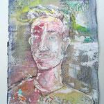 Tom, 2016, 37 x 28 cm, Aquarell und Lack auf Büttenpapier