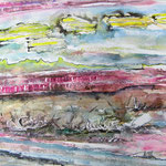 Wilder Strand, 2014, 40 x 56 cm, Aquarell auf Aquarellpapier