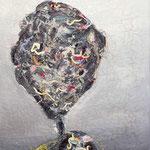 Mrs. Trashflower, 2014, 100 x 70 cm, Oelharz und Lack auf Leinwand