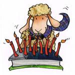 Schaf feiert Geburtstag