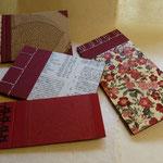 verschied. Notizbücher - japan. Bindung