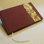 Gästebuch mit handgeschöpftem Papier Weinlaub