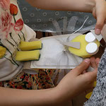 Eine Eule! - Bau der Pappmaché-Figuren