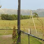 Vista al Valle de Calamuchita y los cordones montañosos de las sierras chicas, desde el ingreso a las cabañas