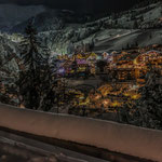 tyrolian mountain village by night