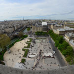 view from Notre-Dame to the city of Paris