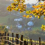 village during autumn