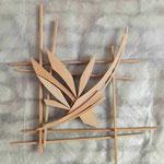 bois de cèdre 50 x 50 cm