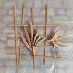 bois de cèdre 80 x 60 cm
