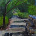 習作 公園 étude,  Parc   65.2×53cm カンバスに油彩  l'huile sur toile   1996