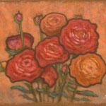 Fleurs  24×33cm  l'huile sur toile  2006