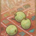 青りんご Pommes verts 41×27cm カンバスに油彩 l'huile sur toile  2007
