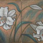 Lys Casablanca  46×33cm×2  l'huile sur toile 2009