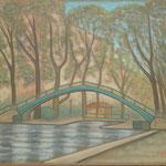 サンマルタン運河 Canal Saint-Martin  46×55cm カンバスに油彩  l'huile sur toile  2007