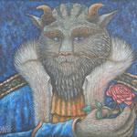 蒼のプリンス Le Prince bleu  54×65cm カンバスに油彩 l'huile sur toile  2015