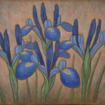 Iris des marais  46×55cm l'huile sur toile  2009
