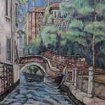 ヴェネツィア Venise (Venezia)   72.7×60.6cm カンバスに油彩  l'huile sur toile   2000