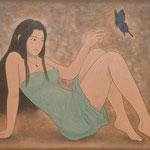 麝香の香り Parfum de musc  89×116cm  カンバスに油彩 l'huile sur toile  2007