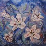 étude,  Lis   45.5×53cm   l'huile sur toile   1997