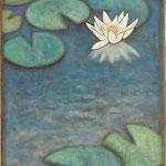 睡蓮 Nénuphar  33×24cm カンバスに油彩 l'huile sur toile  2007