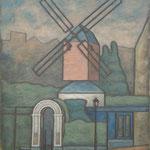 Moulin de la galette  61×46cm l'huile sur toile  2003