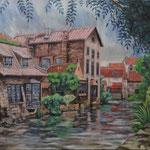 ブルージュ Brugge  Belgique   45.5×53cm カンバスに油彩  l'huile sur toile   2000