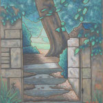 ニエーヴル 抜け道 Nièvre 61×50cm カンバスに油彩  l'huile sur toile 2012