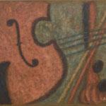 Violon  60×73cm  l'huile sur toile  2008
