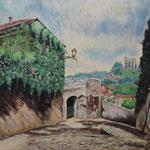 ヴェローナ 丘からの眺め Vue par colline de Vérone   Italie   45.5×53cm カンバスに油彩  l'huile sur toile   1999
