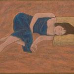シエスタ Sieste  60×73cm カンバスに油彩 l'huile sur toile  2005