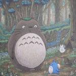 となりのトトロ Totoro  61×50cm カンバスに油彩 l'huile sur toile  2021